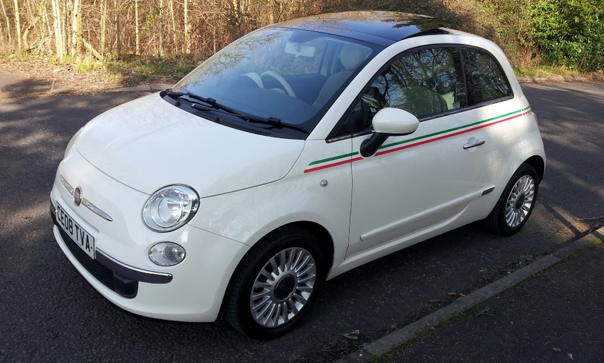 View FIAT 500 LOUNGE ONE OWNER FSH